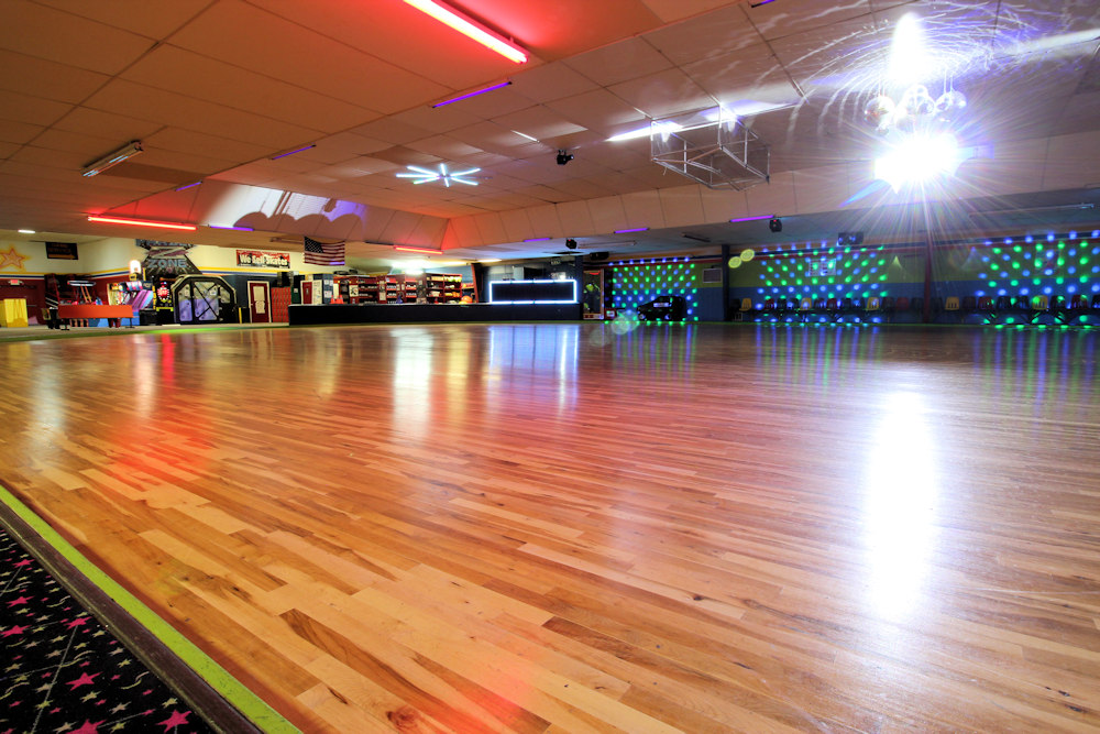 Paradise skate roller rink paradise skate roller rink for How much does a basketball floor cost