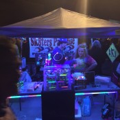 our booth glowing after dark!!!