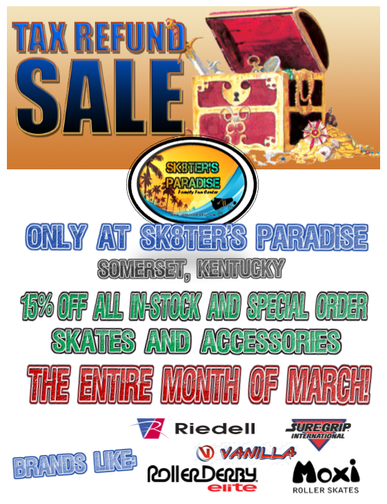 Tax Time Skate Sale Flyer 2017